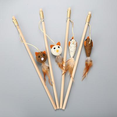고양이 용품 장난감 낚시대 쥐 깃털 CT-7773 로프
