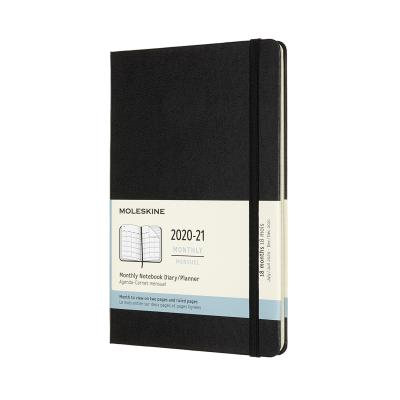 몰스킨 2021먼슬리(18M)/블랙 하드 L