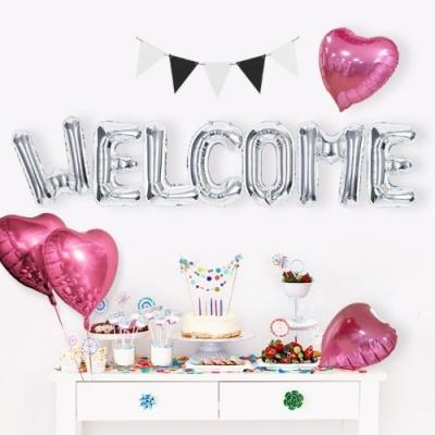환영 은박풍선세트 WELCOME
