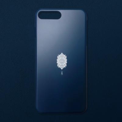전통문양 아름다울 미 블랙 코발트 휴대폰 케이스