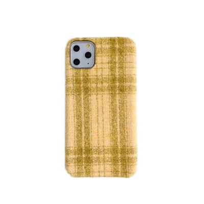 아이폰11 XR XS 맥스 8 체크 패턴 패브릭 하드 케이스