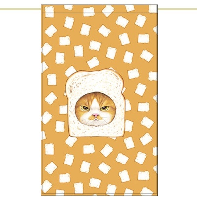 노렌(입구커튼) - 식빵고양이 (51X81cm)