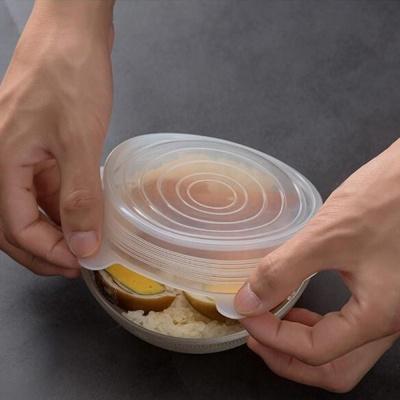 찰떡밀착 밀봉뚜껑 (6pcs) 실리콘 뚜껑 6종 세트