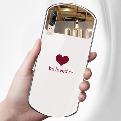 아이폰12/12MINI/하트 미러 강화유리 실리콘 폰케이스