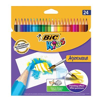 BIC 빅 아쿠아 수채 색연필 24색