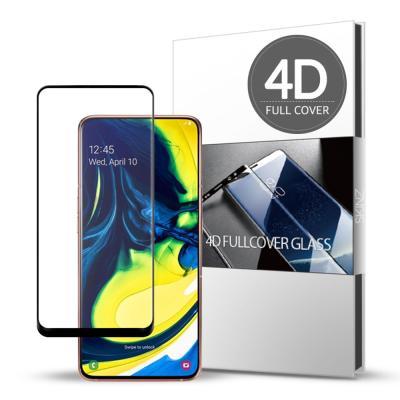 스킨즈 삼성 갤럭시A80 4D 풀커버 강화유리필름 (1장)