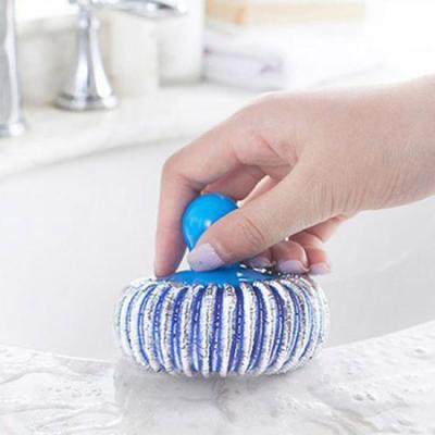 원형 손잡이 가스렌지 수세미 1개(색상랜덤)