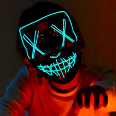 할로윈 블루 LED마스크