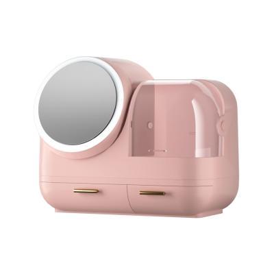 워터샤인 LED무드등 팬선풍기 멀티 화장품보관함 핑크
