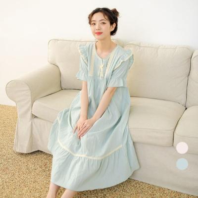 [쿠비카]러블리 숄더 윙 프릴 원피스 잠옷 W577