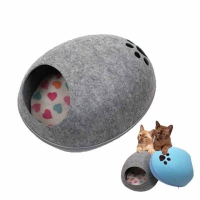풋 프린팅 고양이 하우스 48X39X25cm(M 그레이 1P)