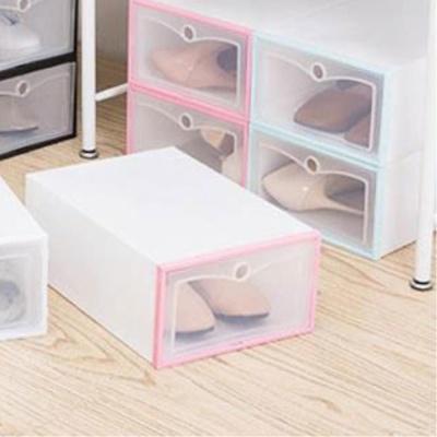 접이식 신발정리함-A타입 소형 핑크 수납박스 신발함