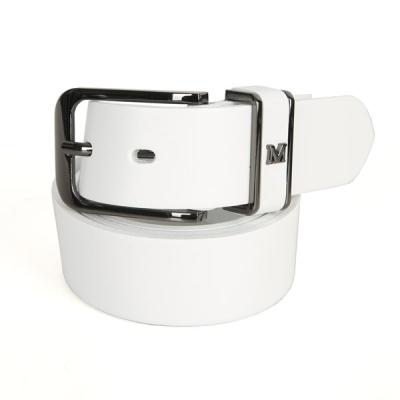 [디꾸보]사각고리 버클 엠장식 가죽 남성벨트 GB802