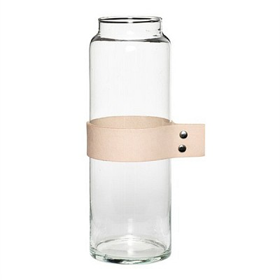 [Hubsch]Vase w leather ribbon 화병379003