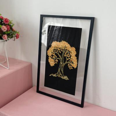 ac825-투명액자38CmX58Cm_돈들어오는황금나무