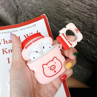 에어팟 케이스 1/2 캐릭터 키링세트 실리콘 118 핑크