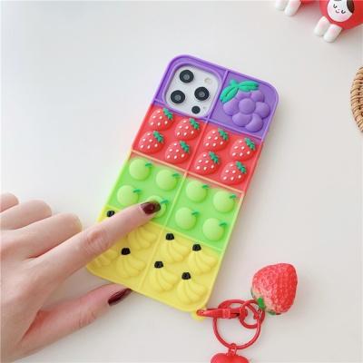 아이폰 12 11 xr x se2 7 8 과일 딸기키링 팝잇케이스