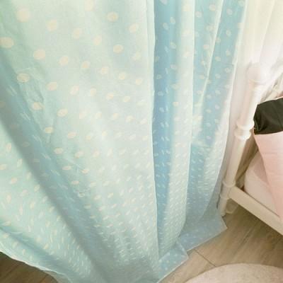 큐티펀치 커튼 - 블루 M(100cm*180cm)