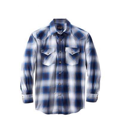 [펜들턴] 프런티어 체크 셔츠 블루 그레이