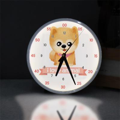 ng190-LED시계액자25R_귀여운아기강아지