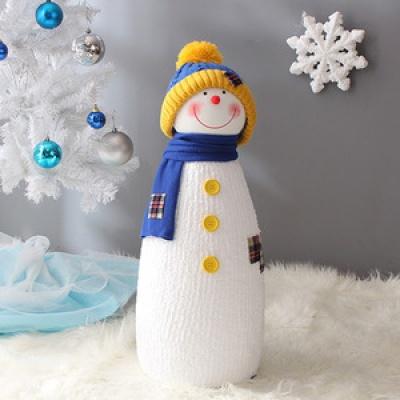 길쭉이 니트모자 눈사람(60cm블루)