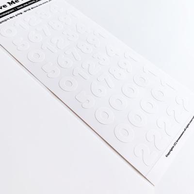 [한정수량판매]러브미모어 화이트_숫자씰스티커