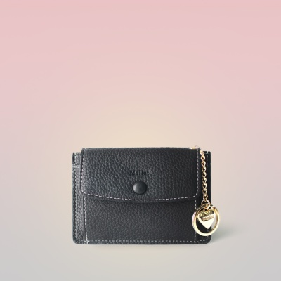 [이니셜 커스텀] Big pocket point wallet _ Black
