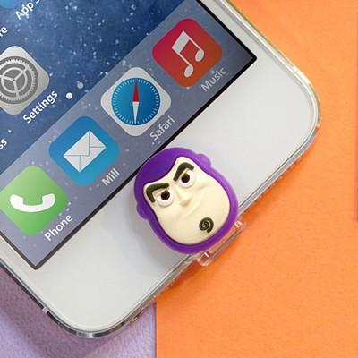 디즈니 라이트닝캡 버즈 아이폰5-6 홈버튼