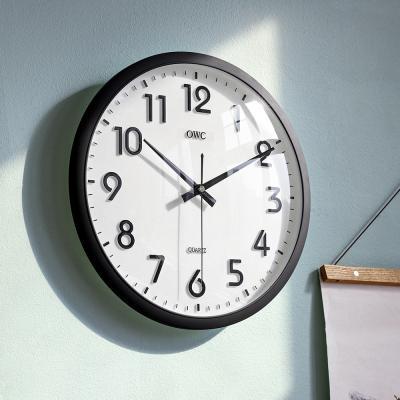 오리엔트 무소음 OT614 블랙 오피스 인테리어벽시계