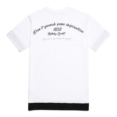 [라지크]BACKSIDE LETTERING layered T-Shirt (WHITE)