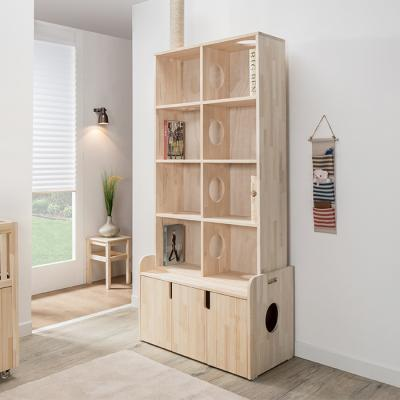 이홈데코 헤이즈 800 책장형 고양이 화장실(원목)