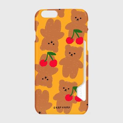 Dot cherry big bear-yellow(카드수납케이스)