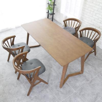 N4126 4인 원목 식탁 세트(의자형) 2colors
