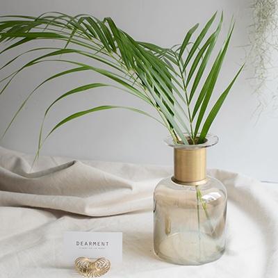 아레카야자잎 3장 생화 인테리어소품
