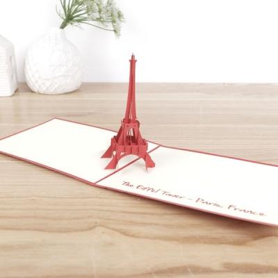 종이로예쁜 입체팝업카드 에펠탑(소)