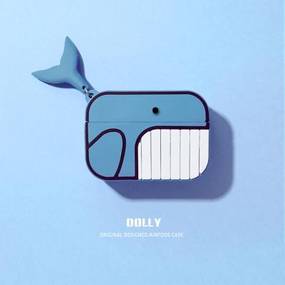 에어팟 3세대 귀여운 고래 실리콘케이스_블루321/프로
