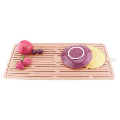 주방 실리콘 드라잉 매트(44.5cm) (핑크)