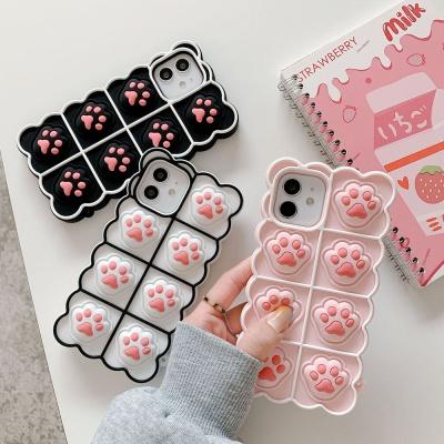 아이폰 11 pro max 푸쉬팝 팝잇 발바닥 실리콘 케이스