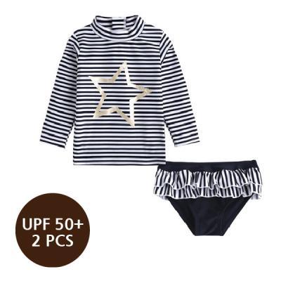 [스윔웨어] 골드스타ST래쉬가드_2PCS(UPF50+) 유아수영복 여아래쉬가드