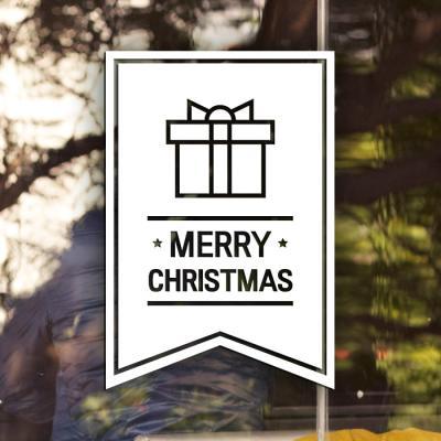 제제데코 크리스마스 눈꽃 스티커 장식 CMS4J144