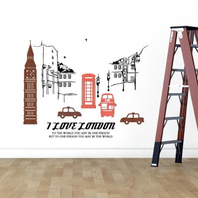 [우드스티커] 런던여행 (컬러완제품)