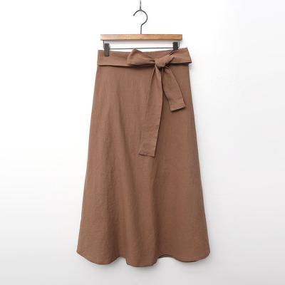 Linen Full Long Skirt