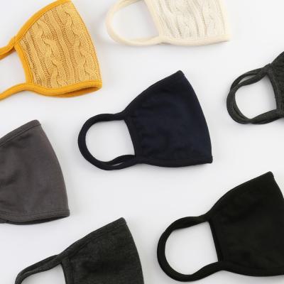 단순생활 패션 연예인 블랙 오가닉 면 방한 마스크