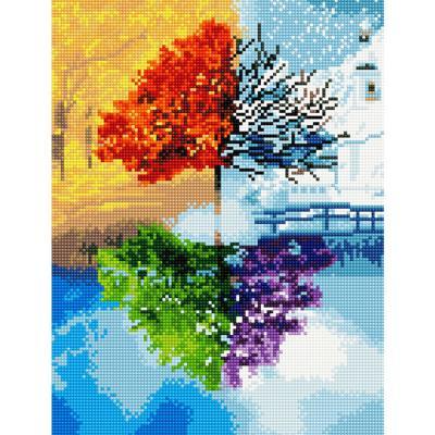 지혜의 나무 (캔버스형) 보석십자수 30x40