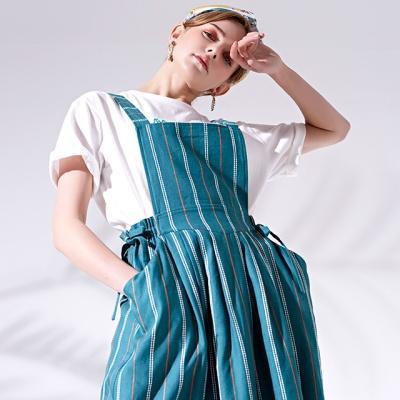 에이프런 드레스 Apron dress_GREEN