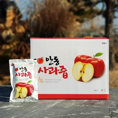 안동산골 사과원액주스 100% 사과즙 100팩
