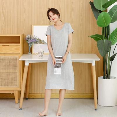 노브라 브라 캡내장 모달 원피스 홈웨어 잠옷 2color