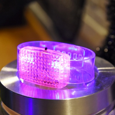 LED 이퀄라이저 팔찌 [핑크]