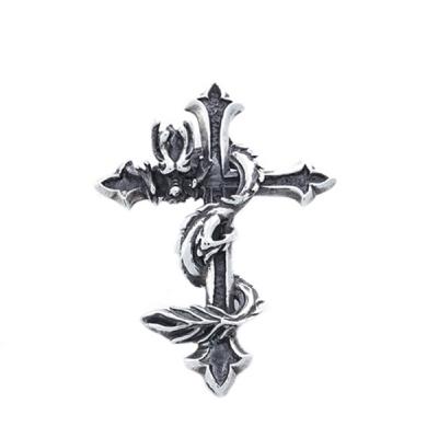 [SWP-014] 십자가휘감은용 실버펜던트