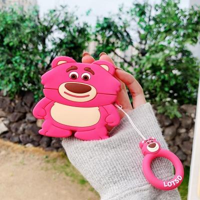 에어팟프로/1/2/3세대 귀여운 곰 캐릭터 실리콘 입체